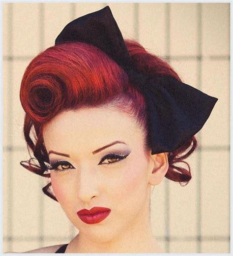 hochsteckfrisuren rockabilly roll hairstyle  fashion