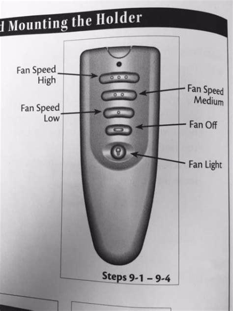 ceiling fan  remote    switch light  works