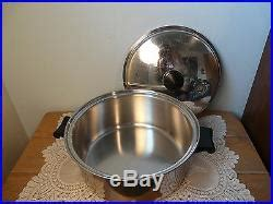 vintage lot saladmaster stainless steel cookware set stock pot pans steamer stock pot stainless