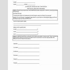 Rhetorical Analysis Worksheet For Ap English, Preap, Andor Secondary English