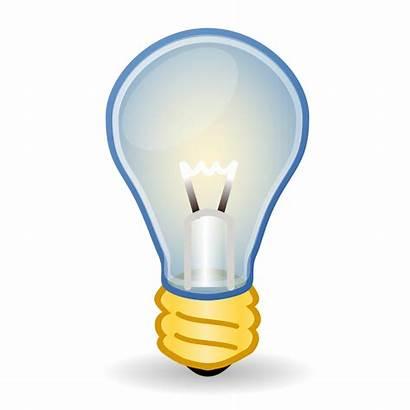 Bulb Clipart Clip Incandescent Transparent Vector Lamp
