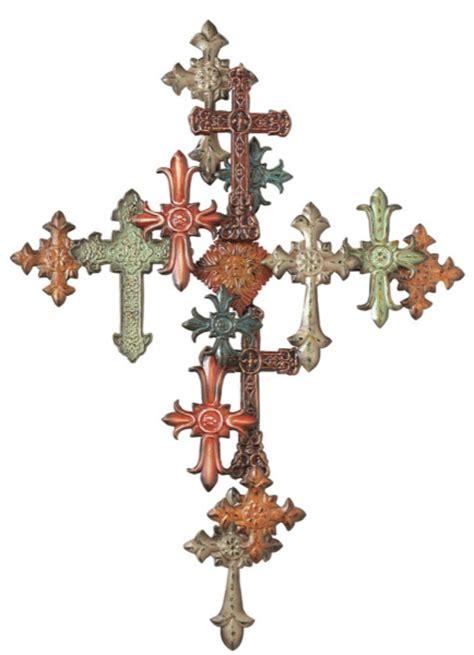 cross on cross metal iron wall decor midwest cbk
