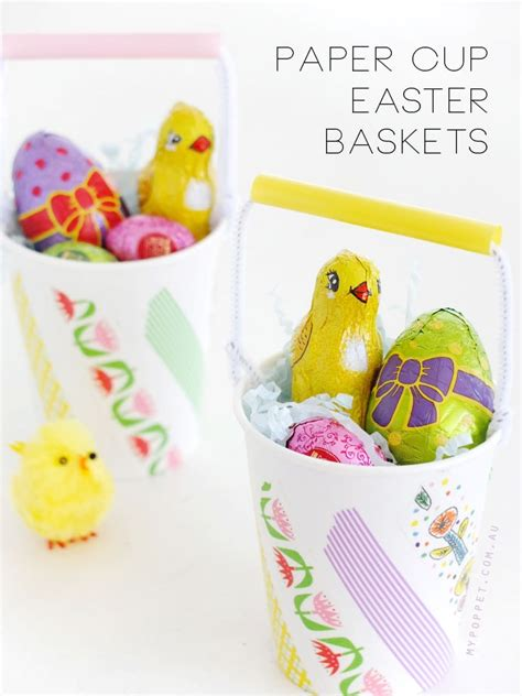 paper cup easter baskets  poppet