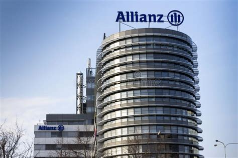 siege allianz le logo financier et d 39 assurance de groupe d 39 allianz sur