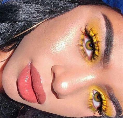 yellow makeup kylie yellow makeup aesthetic makeup eye makeup