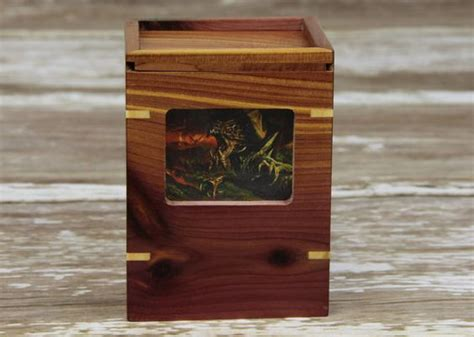 Wooden Deck Box Mtg by Magic The Gathering The Gathering And Deck Box On