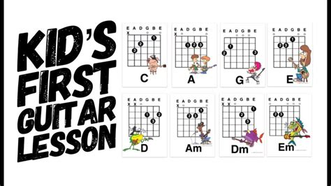 """This subreddit is about free resources for learning guitar. Easy Kids First Guitar Lesson: G and Em """"Best Guitar Chords for a beginn... (With images ..."""