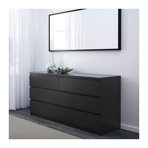 Bureau Malm Noir Ikea by Malm Chest Of 6 Drawers Black Brown 160x78 Cm Ikea