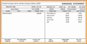 5 pay stub example samples of paystubs With free online paystub template