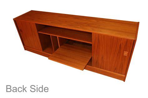 Media Credenza Furniture by Mid Century Modern Teak Media Credenza Cabinet