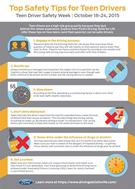 Top Safety Tips For Teen Drivers
