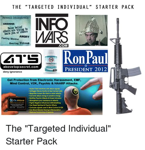 The Targeted Individual Starter Pack Paranoid