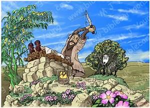 Bible Cartoons: Genesis 22 - Abraham and Isaac - Scene 03 ...