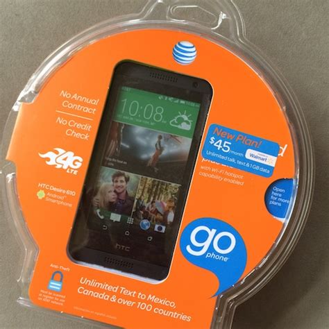 walmart go phone at t gophone 45 monthly no contract smartphone plan at