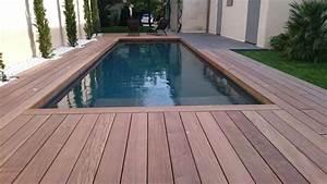 Tour De Piscine Bois : plage de piscine en bois avec les nouvelles terrasses ~ Premium-room.com Idées de Décoration