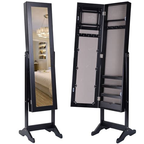 Organiser Armoire by Black Mirrored Jewelry Cabinet Mirror Organizer Armoire