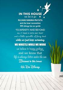 Disney Quote Poem Kids Family Tinkerbell Wall Art Sticker
