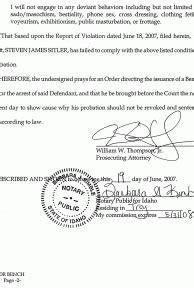 Bench Warrant Jury Duty by Steven Sitler Motion For Bench Warrant Steven Sitler