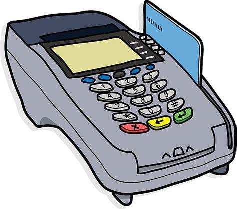 royalty  credit card machine drawing clip art vector