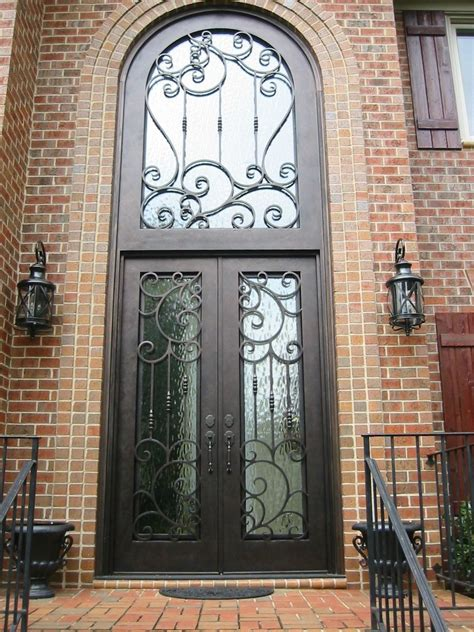 wrought iron entry doors made wrought iron door by the looking glass