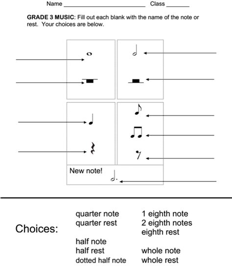 Rhythm Worksheets  Exclusive Music