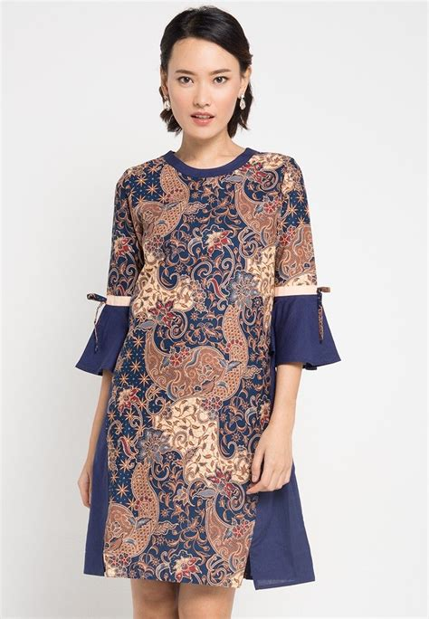 dress cheril baju batik   pinterest couture