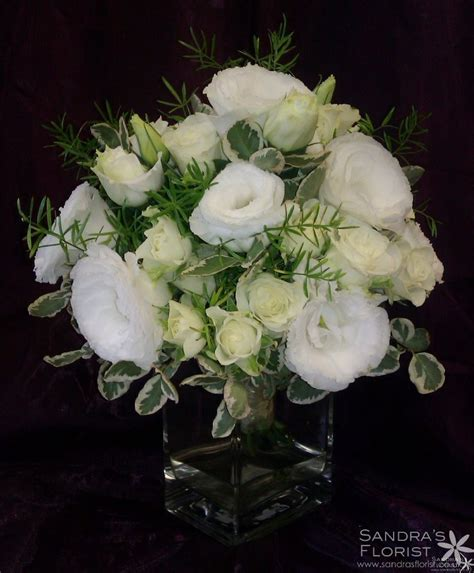 wedding anniversary floral arrangements white rose