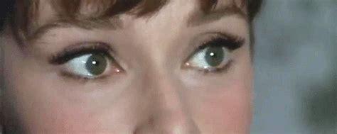 hepburn eye color hepburn vintage gif find on giphy