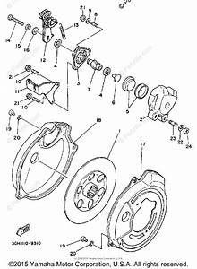 Yamaha Atv 1990 Oem Parts Diagram For Rear Brake Caliper