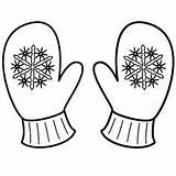 Mittens Coloring Mitten Winter Snowflake Clipart Printable Sheet Sheets Template Drawing Gloves Colouring Snowflakes Snowman Kindergarten Craft Applique Teaching Brother sketch template