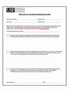 how to write a nomination letter for employee of the month With employee of the month nomination form template