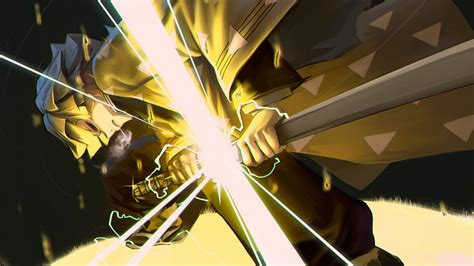 Live wallpaper 4k wonder egg priority. Demon Slayer Zenitsu Agatsuma With Yellow Dress Having Lightning Sword HD Anime Wallpapers | HD ...