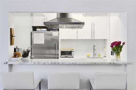 Glossy IKEA Cabinets Shine in a Brooklyn Kitchen Renovation