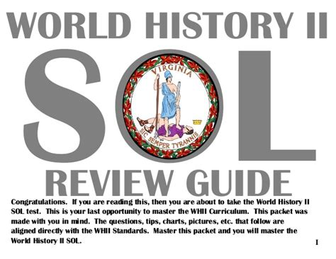 Sol Review by World History Ii Review Guide
