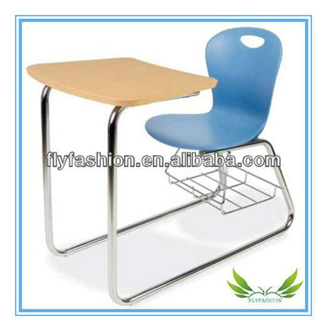 image student desk with chair attached