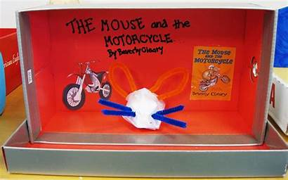Mouse Motorcycle Diorama Reading Mice Lafayette Takes