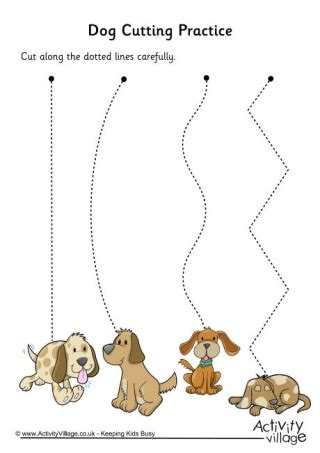 dog cutting shapes