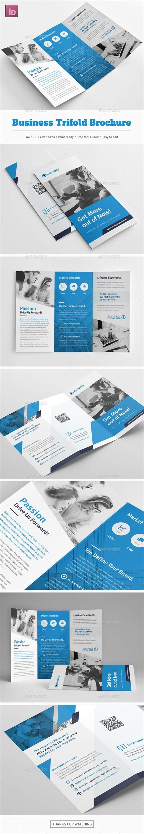 template plaquette indesign business trifold brochure template indesign indd