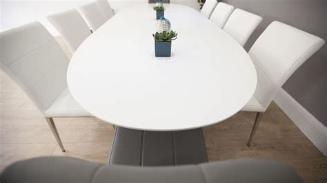 white oval dining table white oval extending dining table quilted faux leather