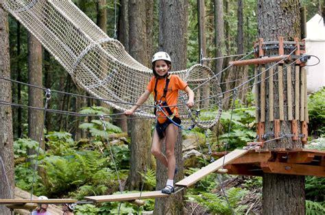 kids tree adventure kids games skytrek adventure park bc