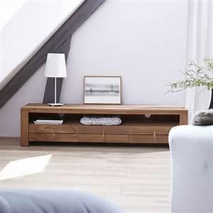 Meuble Tele En Bois : meuble tv bois massif meubles t l chene teck acajou ~ Melissatoandfro.com Idées de Décoration