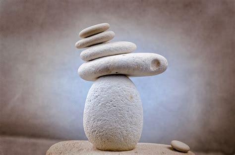 photo stone zen white spa rock  image