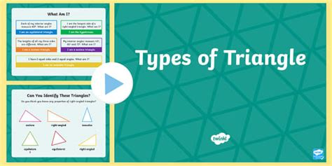 types  triangle powerpoint maths resource twinkl