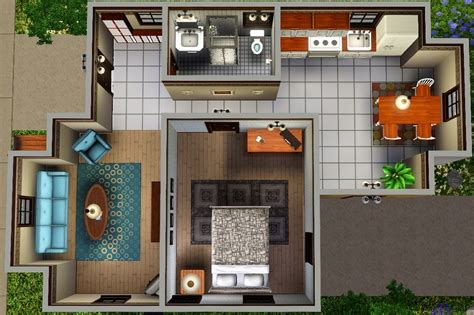 "Mod The Sims ""Ledomus"" Starter home Plan #1 NO CC"