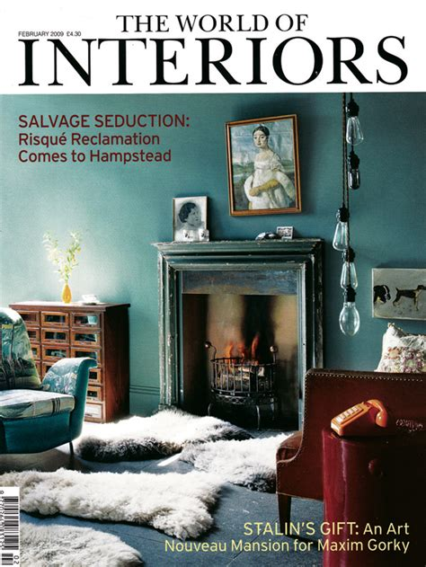 Interior Magazines by Sugarboo Designs Press World Of Interiors Magazine Cover