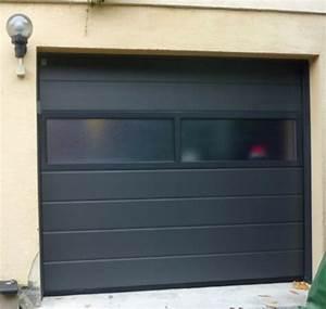 porte de garage sectionnelle avec porte pvc vitree porte With porte de garage sectionnelle avec porte blindée vitrée