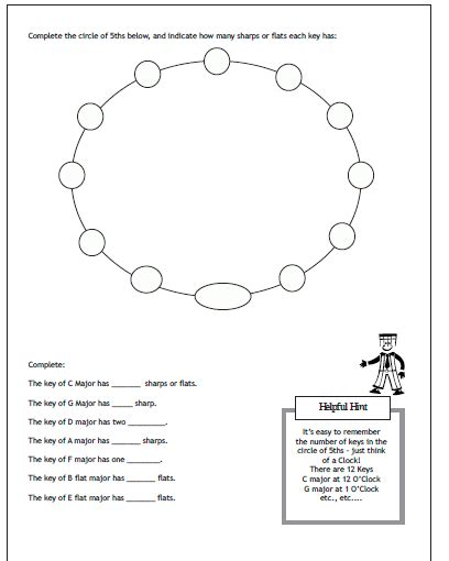 middle school band maven theory worksheets free