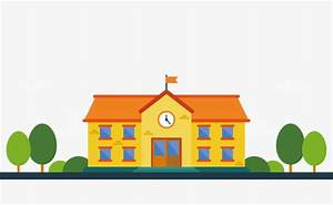 Cartoon School Vector  Vector Diagram  House  Tree Png And
