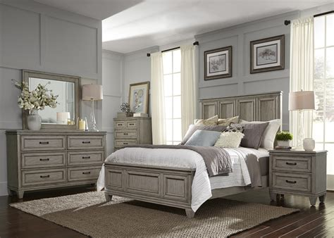 Bedroom Sets Furniture by Grayton Grove Driftwood Panel Bedroom Set From Liberty