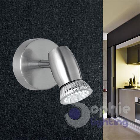 applique specchio bagno applique moderno led spot orientabile faretto acciaio